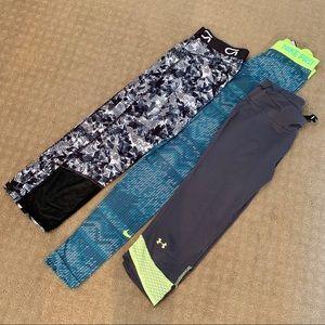 Nike GAP Under Armour Athletic Legging Lot of 3